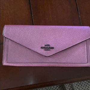 Coach metallic blush wallet